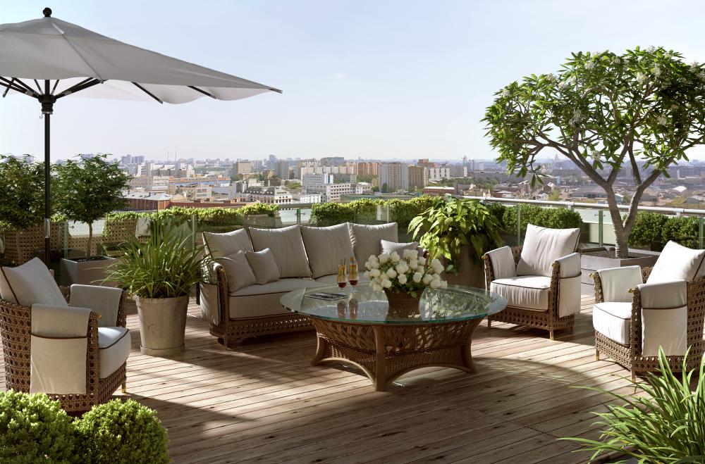 Instructions sur la construction de terrasse en bois contemporaine